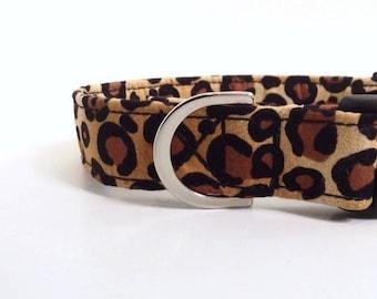 Leopard Print Dog Collar | Dog Collar | Puppy Collar | Girl Dog Collar | Small Dog Collar | Large Dog Collar | Adjustable Collar