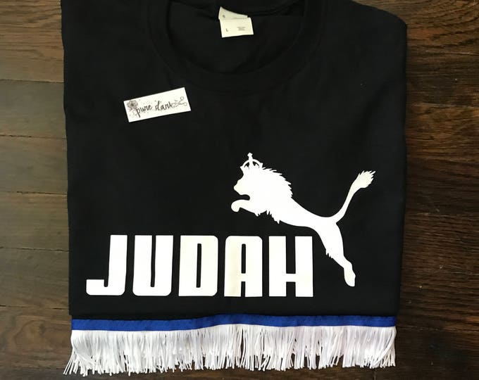 Judah Jump Black T-Shirt White Design
