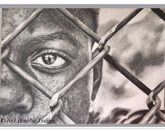 """graphite pencil portrait """"Exile"""""""