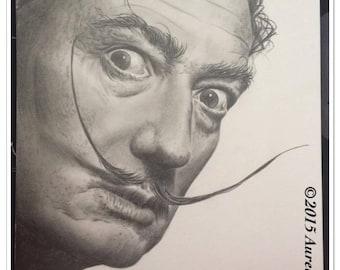 "graphite pencil portrait of ""El Salvador Dali"""
