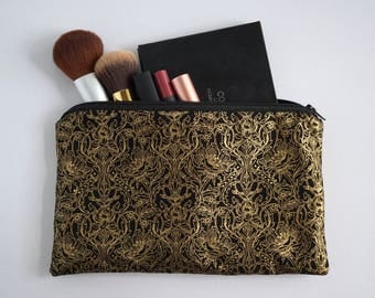 Black and Gold Vintage Pouch