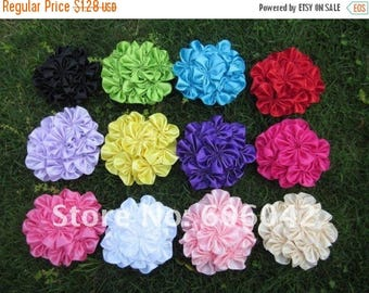 """40% SALE 1 Satin 3"""" Cluster Flowers Pick Your Own Color As Pictured."""