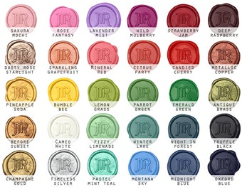 Custom Pre made Self Adhesive Wax Seal Stickers - Available in 30 Colors