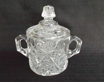EAPG U.S.Glass co.Covered Sugar in No. 15098 Regal AKA Oklahoma