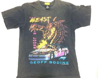 Vintage The Beast Driver Motorsport Geoff Bodine Motorsport Nascar USA Racing