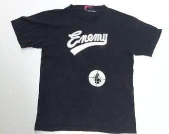 Vintage Public Enemy Tshirt Hip Hop Rap Black Color