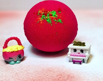 Sale! Sale! Shopkins bath bomb.. choose your scent and color.. kids bath bomb, great gift!  6 ounces