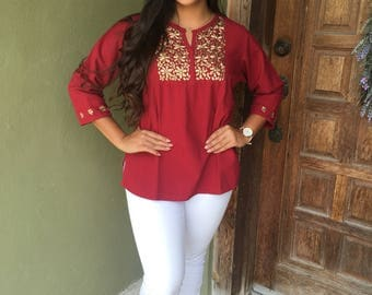 Mexican Blouse, Oaxacan Blouse, Cinco de Mayo