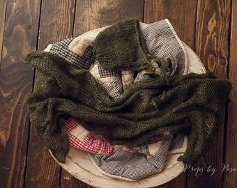 Newborn Photography Prop - Newborn Layer Bundle, Dark Green