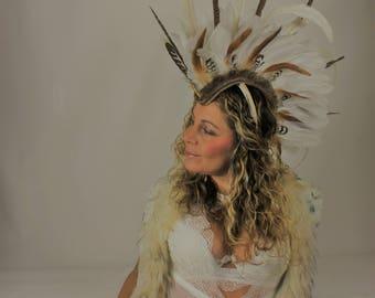 White tribal mohawk