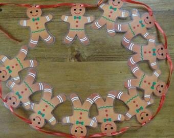 Gingerbread Men Christmas Bunting