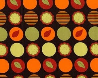 """ON SALE Michael Miller """"Mod Dots""""  in Earth    Fabric sold BTY"""