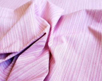 Pink Cotton Blend Straie Fabric
