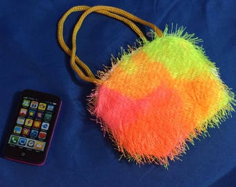 Fuzzy Purse and Smart Phone for American Girl Doll,   Cell Phone, 18 inch doll accessories