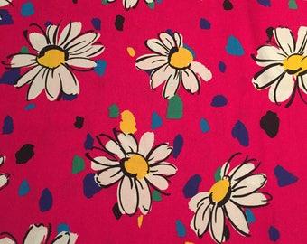 Adorable Vintage Cotton Daisy Fabric