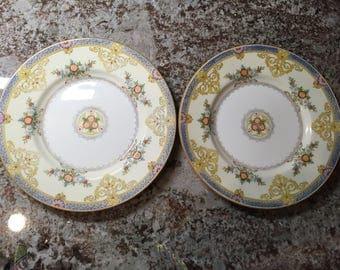 Vintage Minton England China 2 Plates Pattern B1099