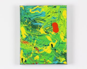 Original Abstract Painting - Electric Bright Modern Wall Art