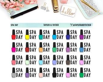 Spa Day Planner Sticker | Erin Condren Vertical Planner Stickers