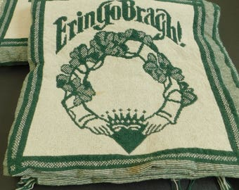 Vintage Irish Throw Blanket, Erin Go Bragh, Ireland Forever, Irish Claddagh, St Patrick's Day Gift, Cotton, Lap Cover, Sofa, Couch, Decor