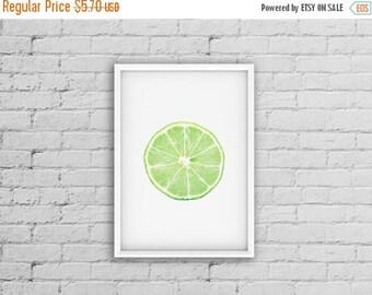 Sale Lime Green Decor Lime Print Citrus Kitchen Print Fruit Kitchen Decor