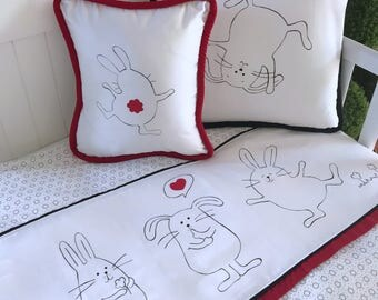 3 Red rabbits