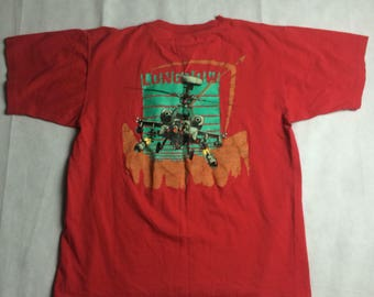 Vintage AH64 Longbow Apache Helicopter T-Shirt Mens Size Large Single Stitch
