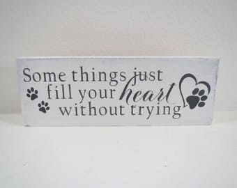 Paw Print Sign/Pet Sign/Small Dog Sign/Small Cat Sign/Painted Wood Signs