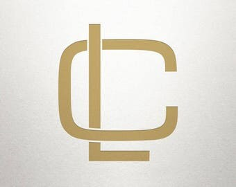 Overlapping Letters Design - CL LC - Overlapping Letters - Digital