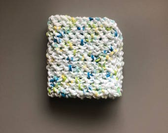 100% cotton knitted dish cloth, wash cloth, green living, eco, handmade,