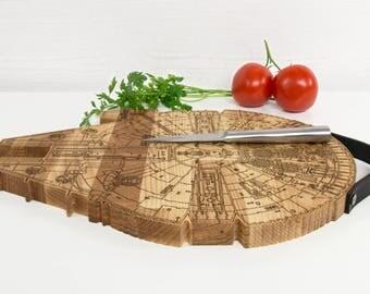 Millennium falcon - Cutting board - Chopping board - Boyfriend gift wood - Cutting board wood - Chopping block - Chopping block wood