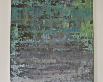 abstract painting, swamp, acrylic painting, gift painting