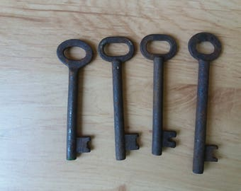 Old keys. Set of 4. Soviet vintage. Antique skeleton key