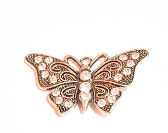 Butterfly crystal  pendant