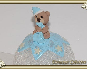 Light blue Teddy bear baby 204006