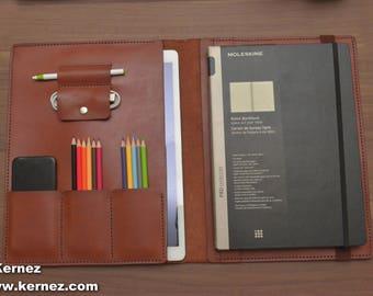 iPad Pro 12,9 Case, iPad Pro Leather Padfolio, leather notebook, leather notepad case, iPad pro case, iPad padfolio, iPad pro portfolio