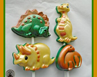 Chocolate Dinosaur Lollipops/Dinosaur Gift/Kids Chocolate/Chocolate Lollipops/Boys Dinosaur Party Favours/Boys Birthday Gift/Dinosaur Lolly