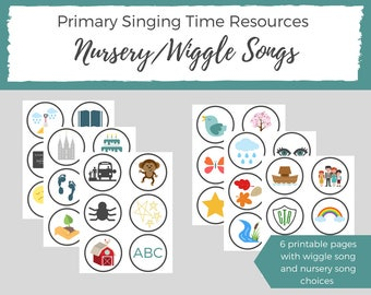 LDS Primary Singing Time - Teaching Children Music - LDS Primary Music - LDS Primary Sharing Time - Music Aids for Teacher Teacher Printable