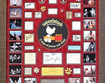 Woodstock 1969 Festival - Signature Collage