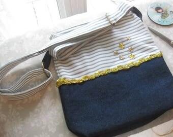 Pretty sailor style shoulder bag / / holiday bag / / layering / / summer 2017
