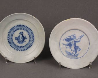 Two 17th Century Dutch Delft Dishes