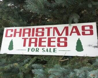 Christmas Trees Sign - Joanna Gaines - Farmhouse - Christmas - Vintage - Holiday - Rustic - Home Decor - Wood Sign