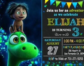 The Good Dinosaur Invitation Printable, The Good Dinosaur Birthday Party