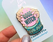 GOOD WITCH Pin  Crystal Ball Pin  Wizard Of Oz Pin  Gift For Mum  Gift For Her  Lapel Pin  Enamel Pin  Wizard Of Oz  Wicked Gift