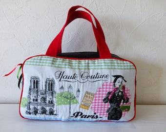 Toiletry bag, suitcase, woman, girl, retro, romantic, Paris,