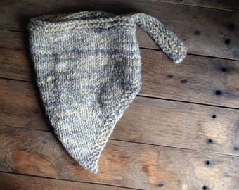 Box knit Bandana Shawl yarn Handspun hand