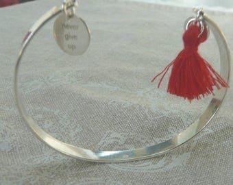 """""""Never give up"""" tassel bracelet"""