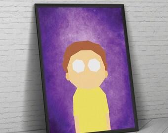 Rick and Morty Print, Rick and Morty Poster, Morty Smith, Rick and Morty, Rick and Morty Art, Pickle Rick, Rick Sanchez, Morty Poster.