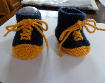 Baby shoes or converse hand made wool