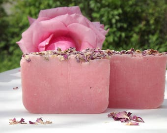 ROSE SOAP. Natural rose soap. Gift for her. Luxury gift
