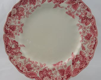 "Johnson Brothers Strawberry Fair 10"" Dinner Plate, vintage"